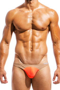 Modus Vivendi Orange/Nude Low-Cut Swim Brief