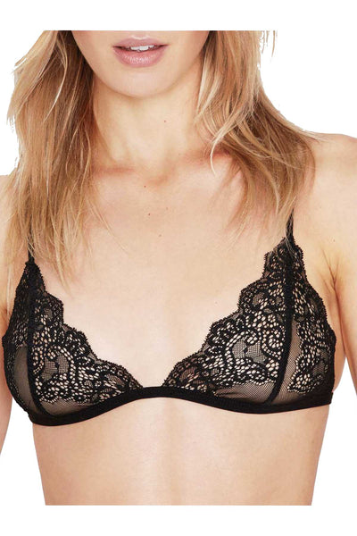Mosmann Black Mia Lace Triangle Bralette - CheapUndies.com