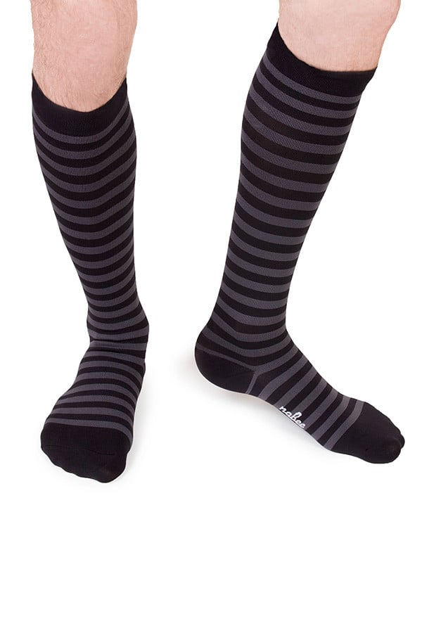 Nabee Black & Grey Striped Sock