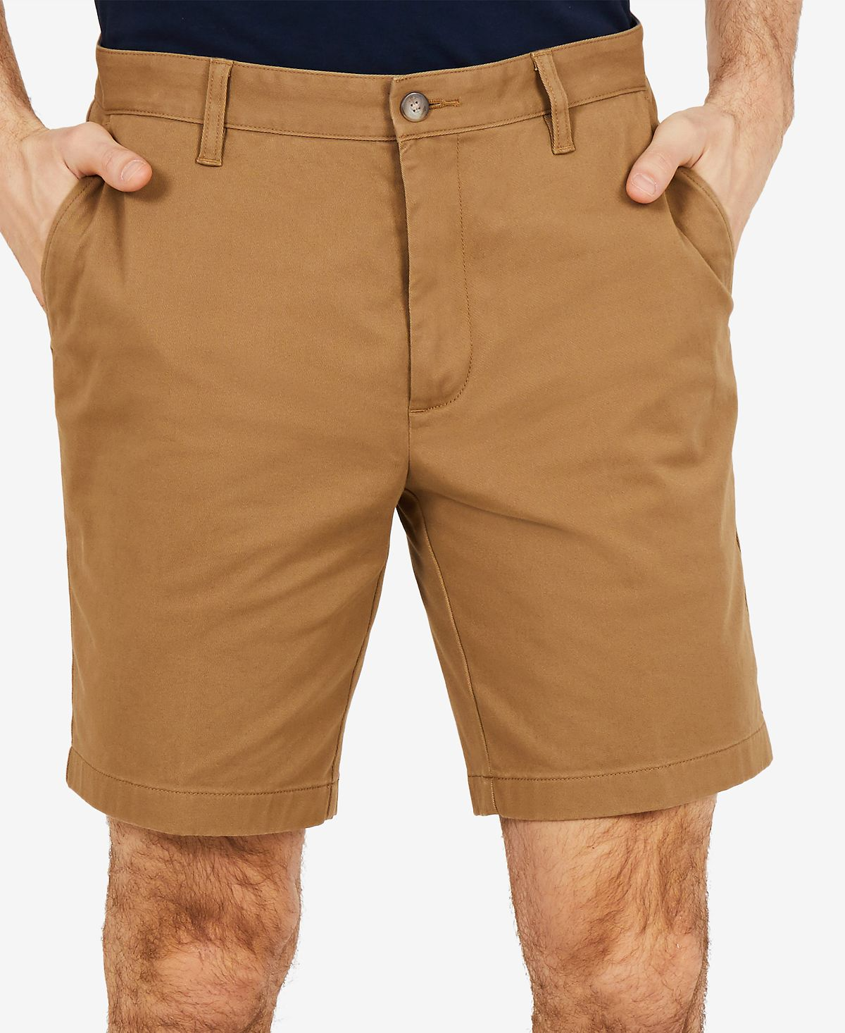"Nautica 8.5"" Stretch Classic-fit Deck Shorts Oyster Brown"