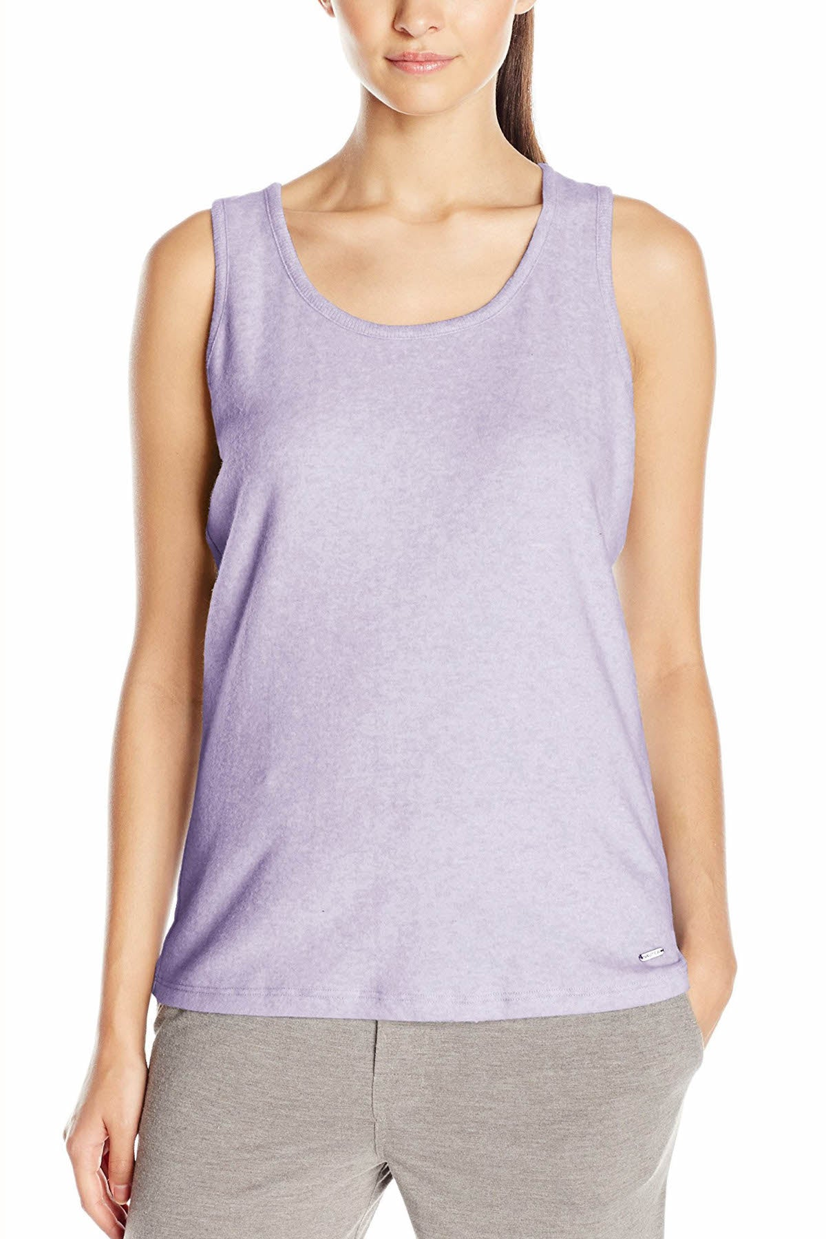 Nautica Heather-Lavender Sweater-Knit Lounge Tank