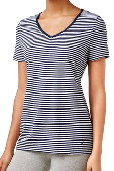 Nautica Maritime-Navy Striped Lounge Tee