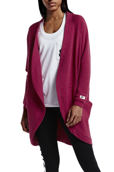 Nike Noble-Red Modern French-Terry Cardigan