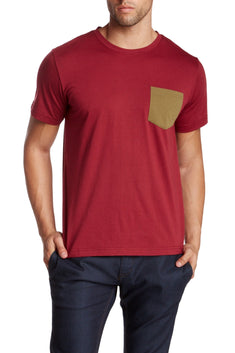 Oxymoron Maroon Pretty Ugly Pocket Tee