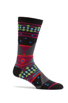 Ozone Black Seljuk Triangles Crew Sock