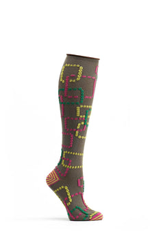 Ozone Brown Retro Gaming Knee High Sock