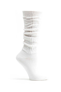 Ozone White Bunchies Knee High Sock