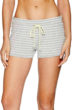 PJ Salvage Heather-Grey Striped Sunshine Days Modal Lounge Short