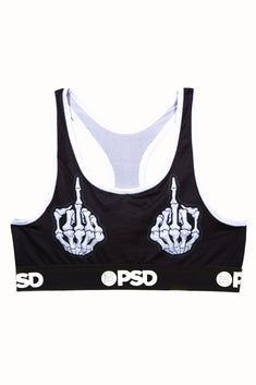 PSD Black Skeleton FU Sports Bra