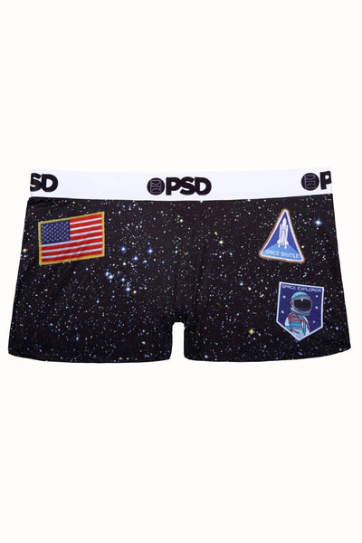 PSD Black Space Camp Boyshort