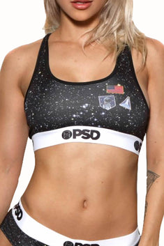 PSD Black Space Camp Sports Bra
