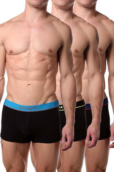 Papi Black/Blue/Multi Brazilian Trunk 3-Pack