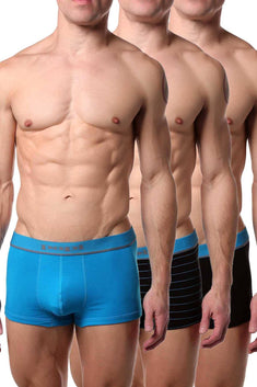 Papi Black/Teal Brazilian Trunk 3-Pack