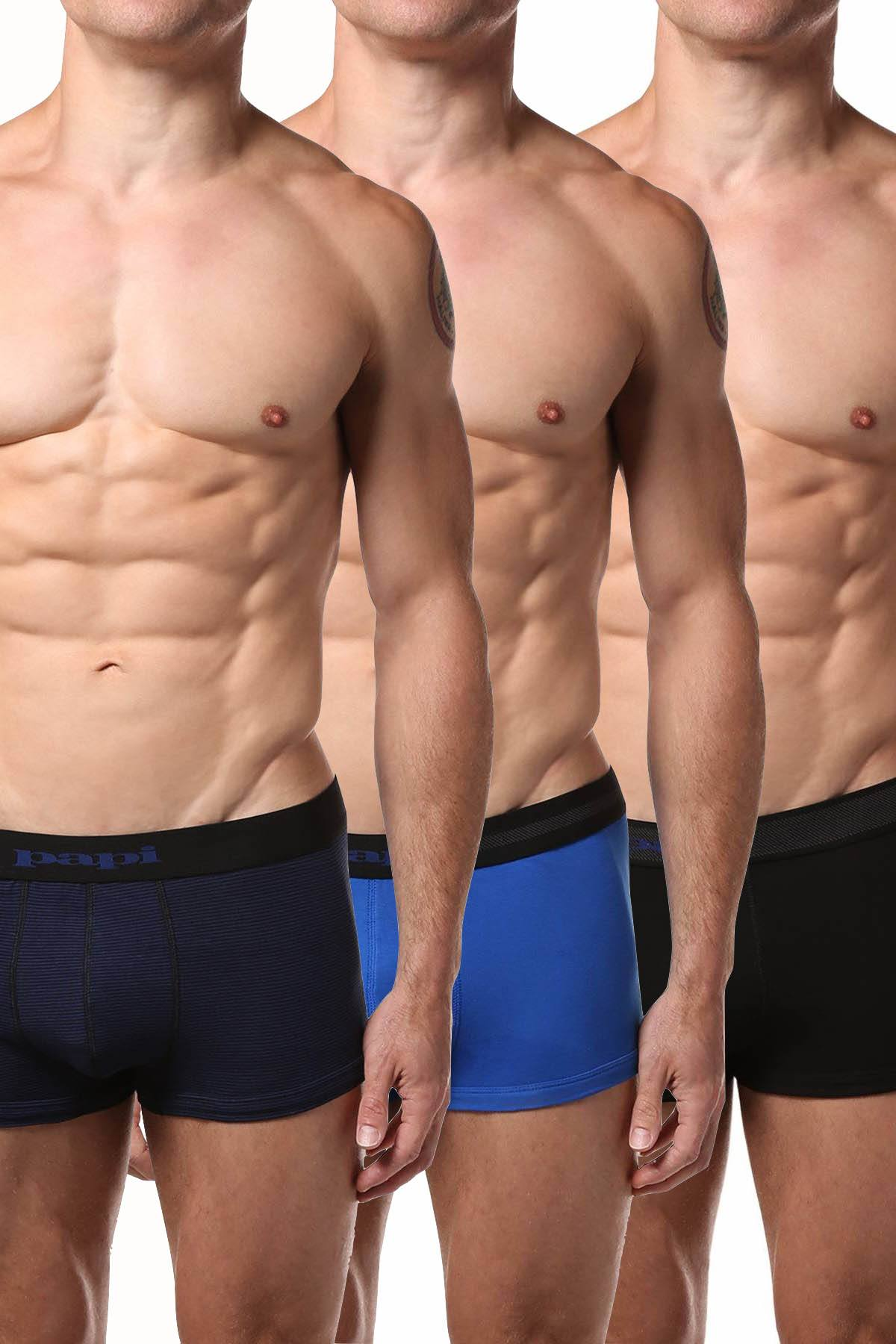 Arnold Gym Olympic Series Trunks Microfiber Underwear Pack of 2 Black Boxer