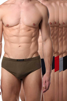 Papi Military-Hues Premium Cotton Low-Rise Brief 5-Pack