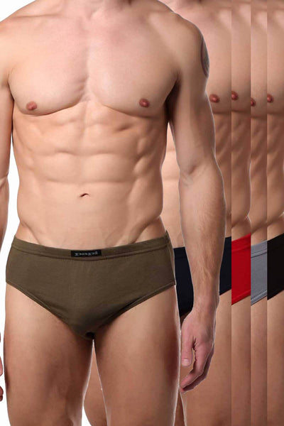 Papi Military-Hues Premium Cotton Low-Rise Brief 5-Pack - CheapUndies.com