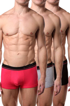 Papi Pink/Grey/Black Brazilian Trunk 3-Pack
