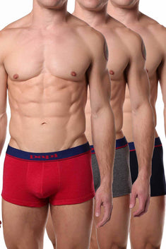 Papi Red/Grey/Black Brazilian Trunk 3-Pack