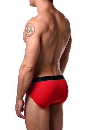 Parke & Ronen Red Solid Brief