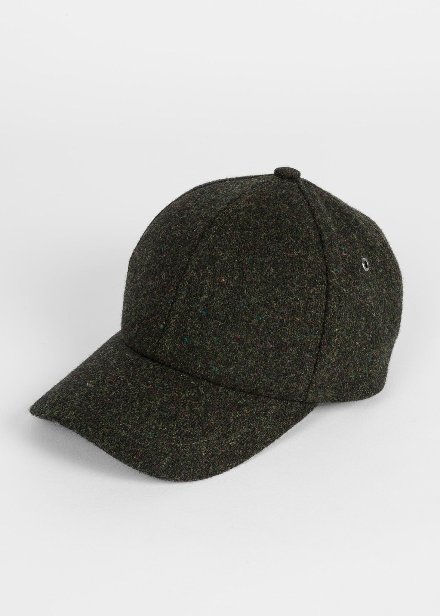 Paul Smith Men's Flecked Wool Cap Olive