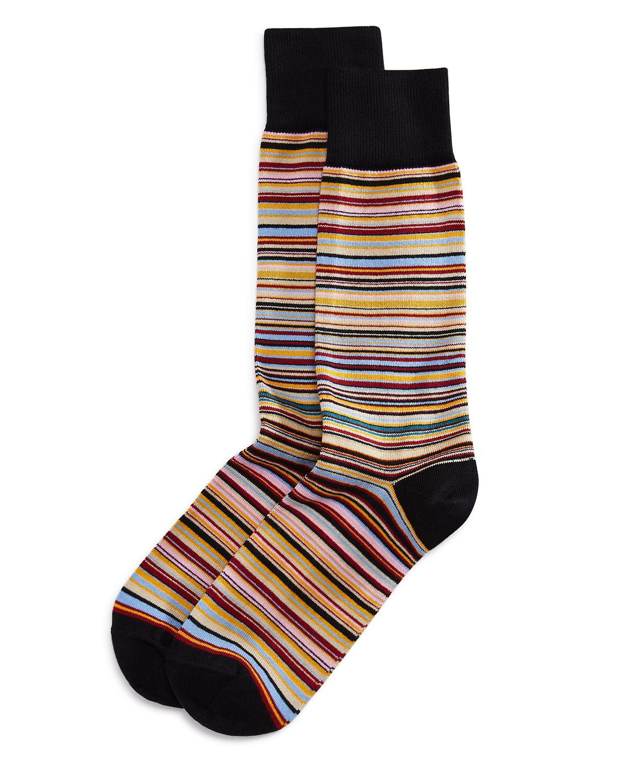 Paul Smith Multicolored Stripe Socks Black Multi