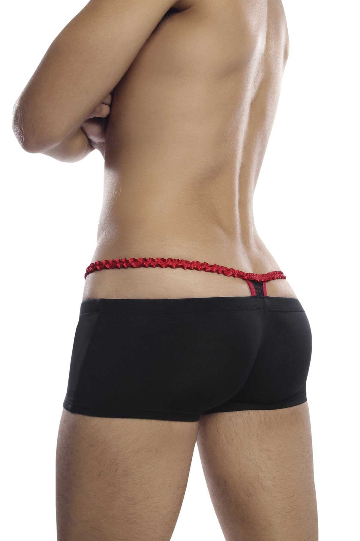 PetitQ Black & Red Thong Boxer Trunk