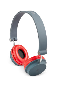 Polaroid Red/Gray Foldable Bluetooth Wireless Headphones