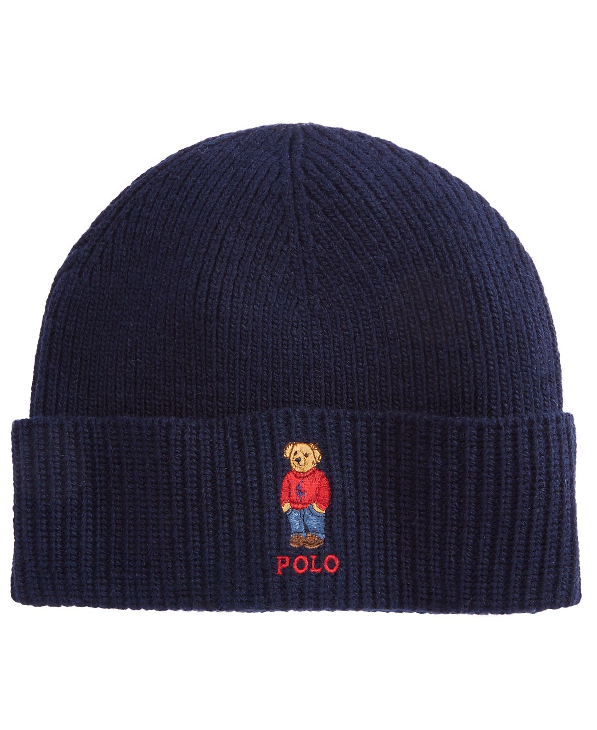 Polo Ralph Lauren Bear Cold Weather Cuff Hat Navy
