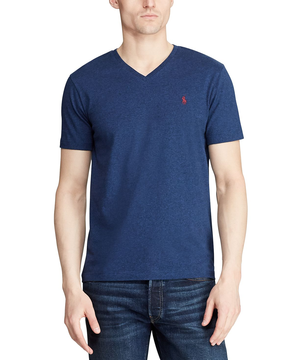 Polo Ralph Lauren Classic-fit V Neck T-shirt Monroe Blue Heather