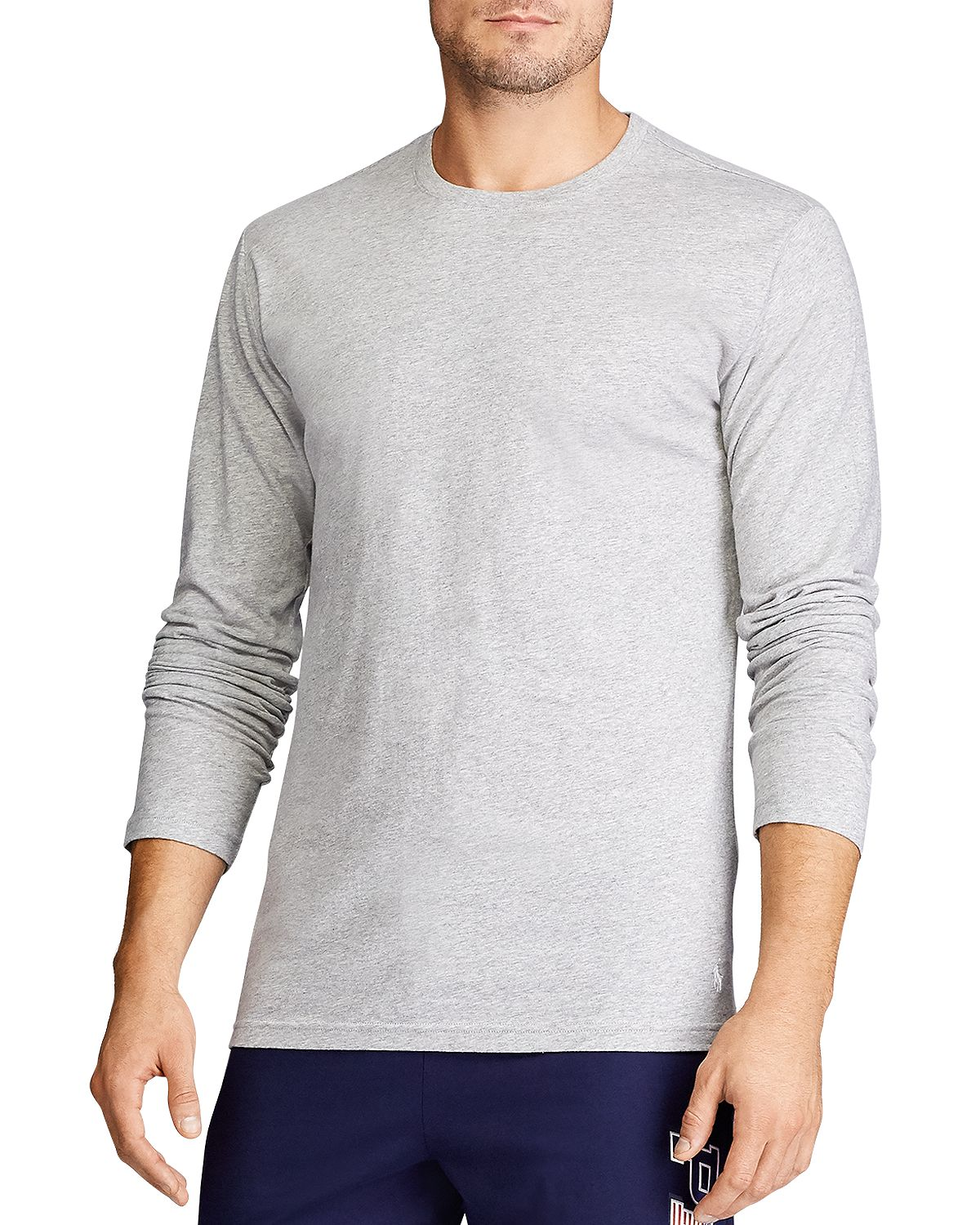 Polo Ralph Lauren Long-sleeve Sleep Shirt Gray