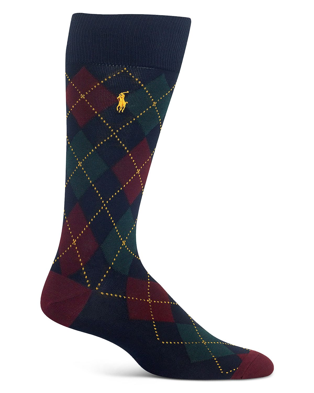Polo Ralph Lauren Mercerized Argyle Socks Navy