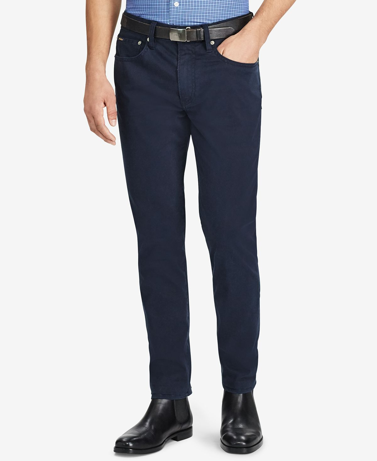 Polo Ralph Lauren Prospect Slim-straight Sateen Pants Collection Navy