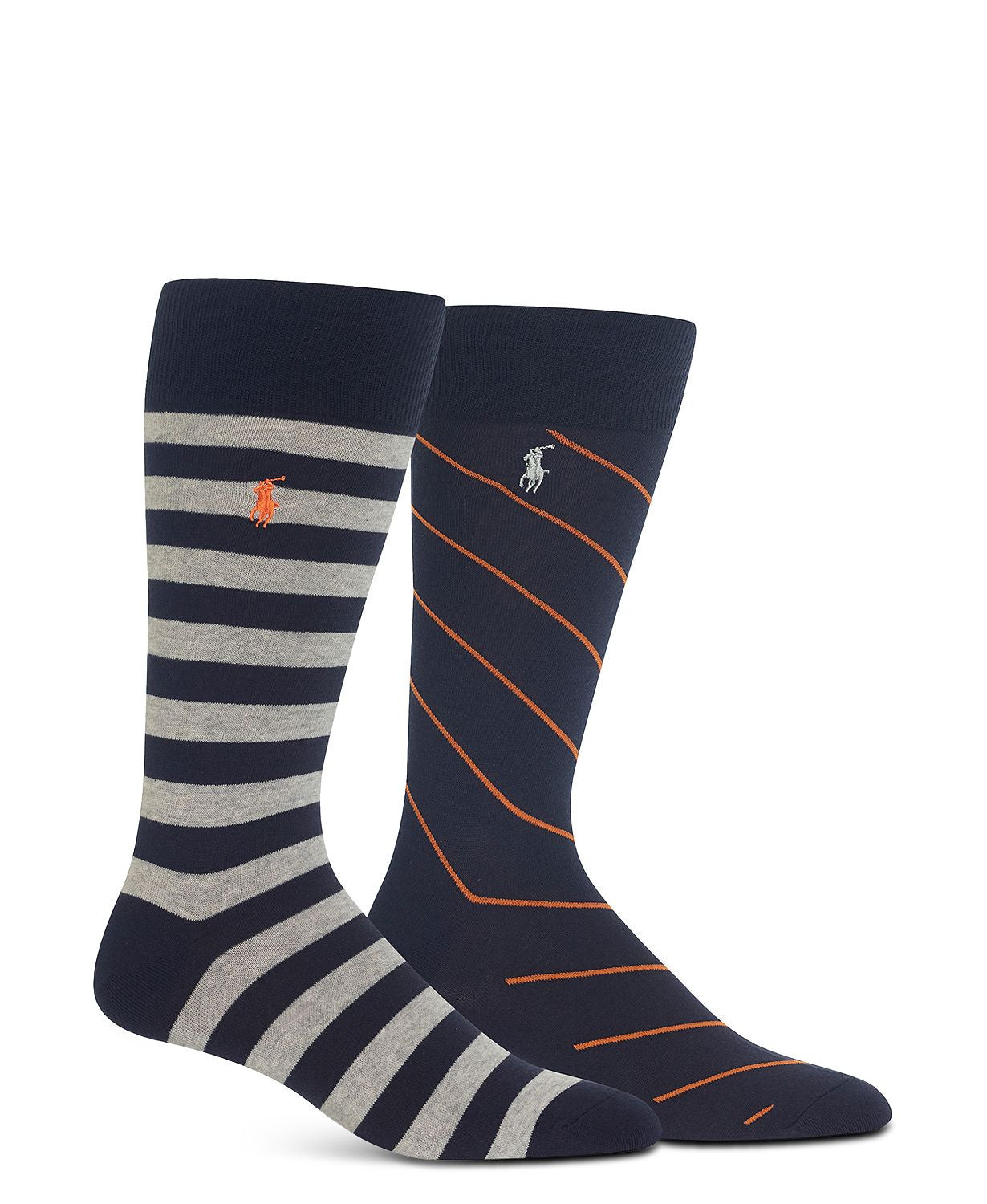 Polo Ralph Lauren Rugby Stripe Socks Gray Heather