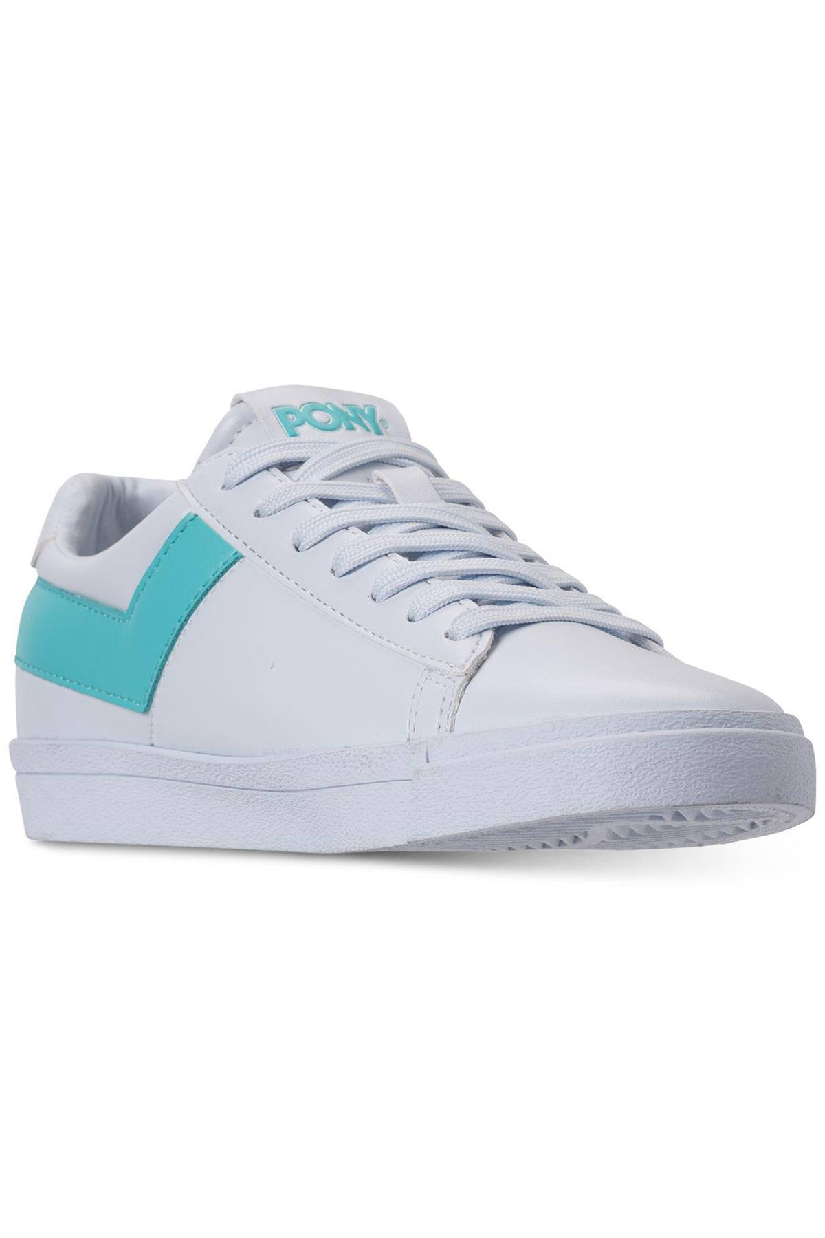 Pony White/Aqua Top-Star Lo Core Sneakers