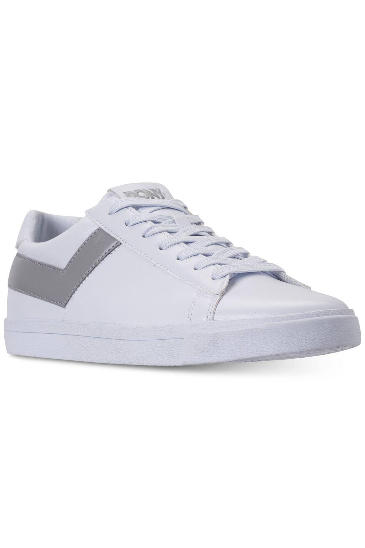 Pony White/Grey Top-Star Lo Core Sneakers