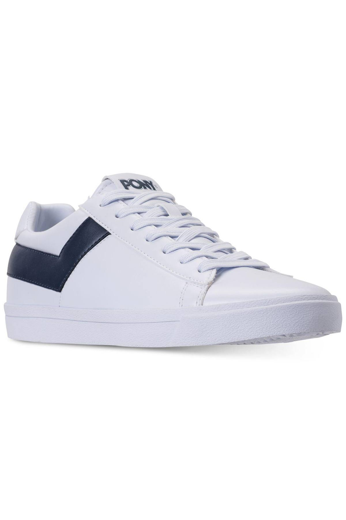 Pony White/Navy Top-Star Lo Core Sneakers
