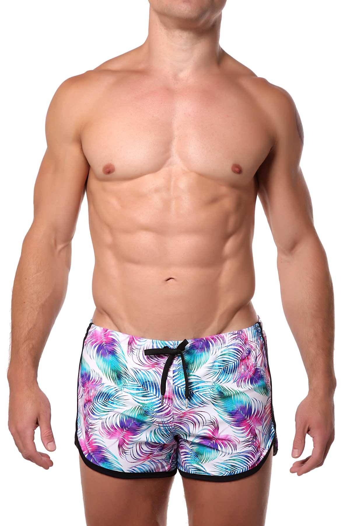 Pool Boy Light-Palm Swim Short