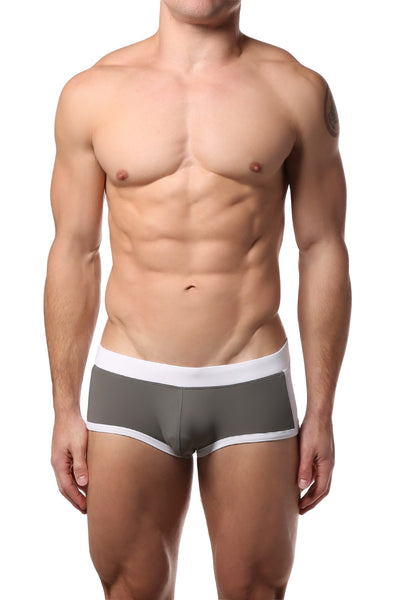 PoolBoy Grey Contrast Swim Trunk - CheapUndies.com