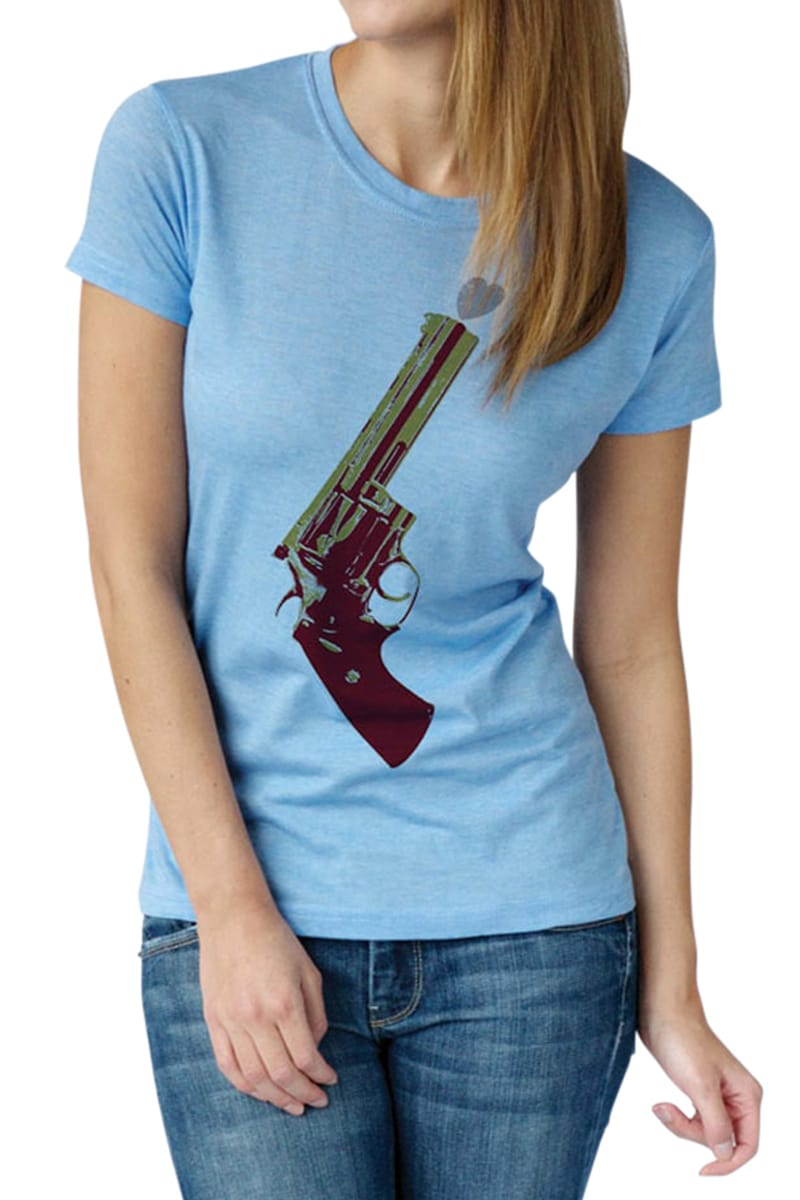 Poster List Heather Blue Love Gun Tee