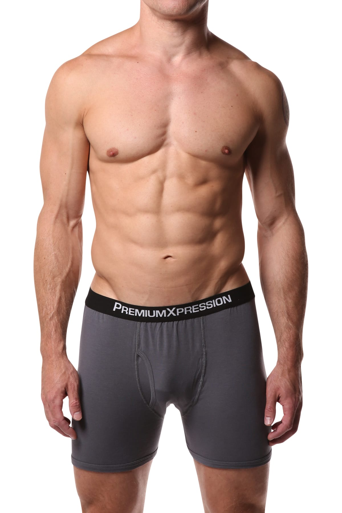 Premium Xpression Charcoal Boxer Brief