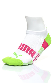 Puma White Strawberry No-Show Socks 3-Pack
