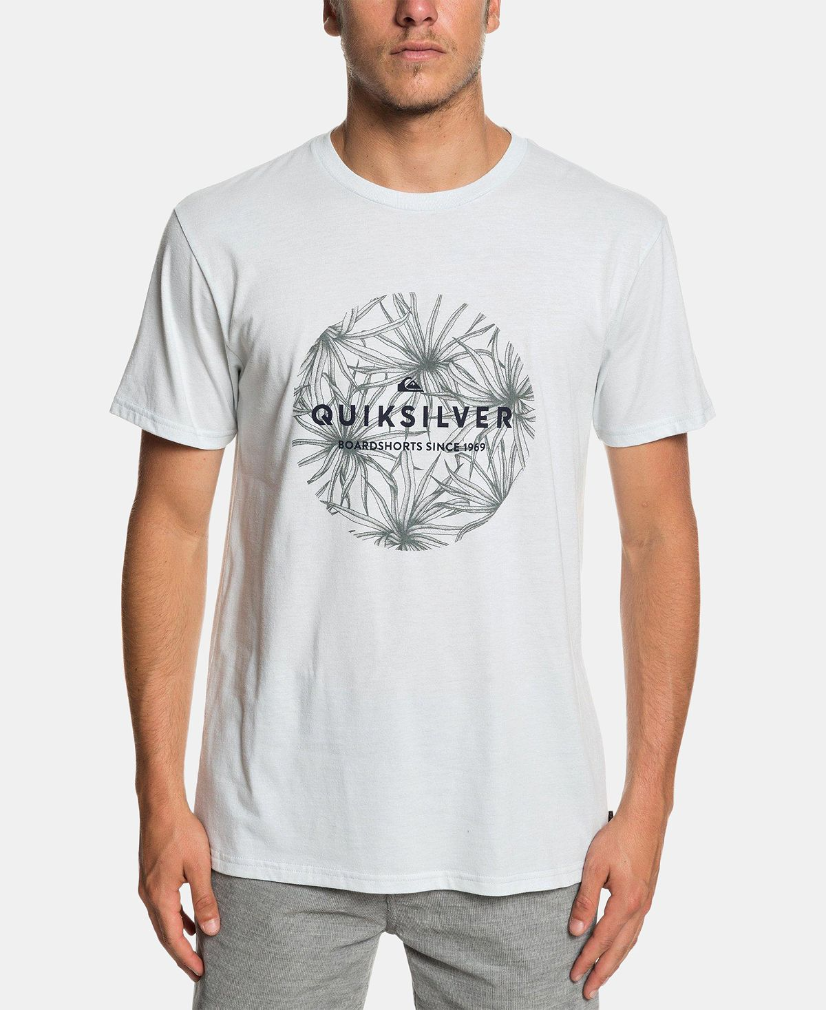 Quiksilver Classic Bob Graphic T-shirt Sky Gray Heather