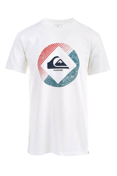 Quiksilver White Hot-Plate Graphic-Print T-Shirt