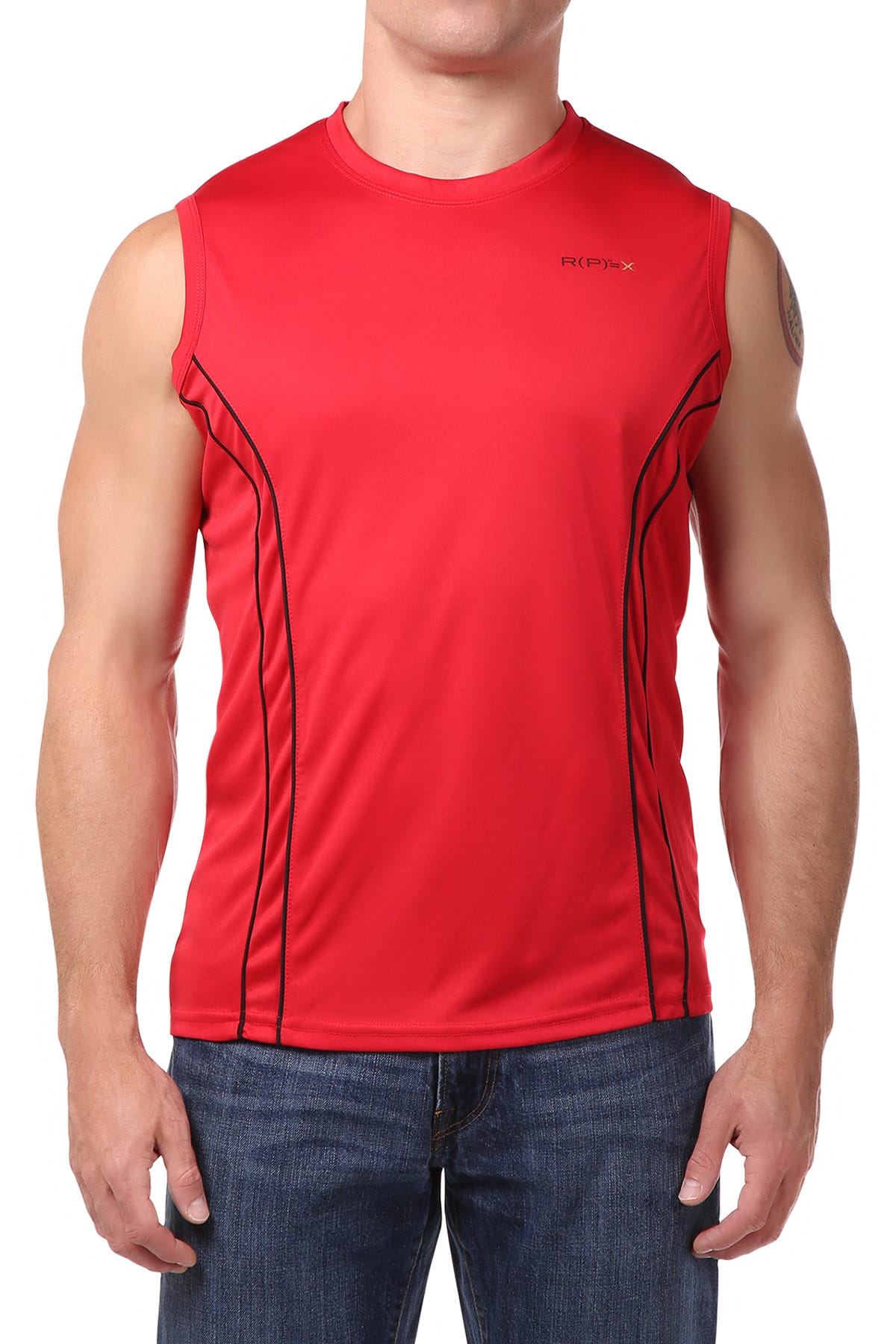 RPX Red Crew-Neck Muscle Tank