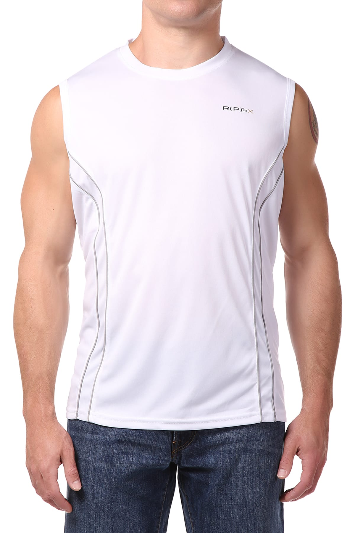 RPX White Crew-Neck Muscle Tank