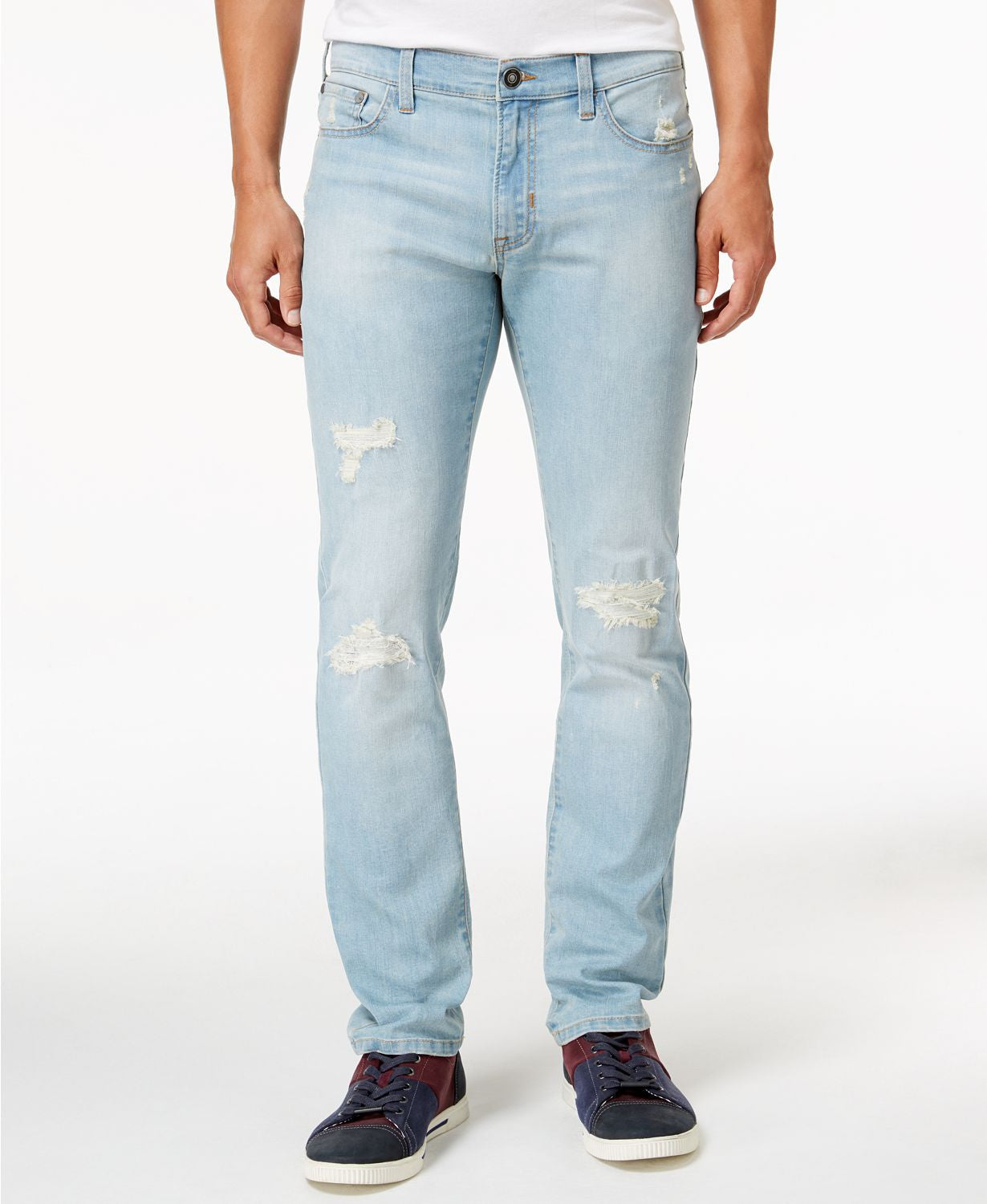 Ring Of Fire Slim Fit Stretch Ripped Cayenne Skyler Jeans in Blue