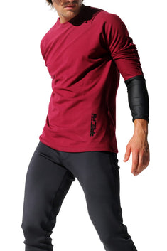 Rufskin Burgundy QI Long Sleeve Tee