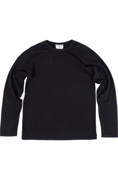 Rxmance Unisex Black Loose-Knit Long-Sleeve Tee Shirt