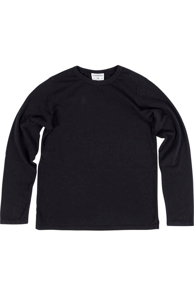 Rxmance Unisex Black Loose Knit Long Sleeve Tee Shirt - CheapUndies.com