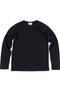 Rxmance Unisex Black Loose Knit Long Sleeve Tee Shirt